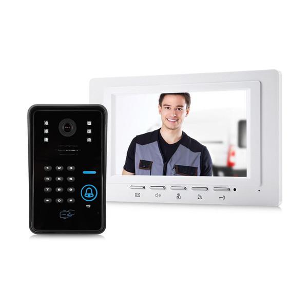 SY817WMJSA11 7 inç Renkli LCD Görüntülü Kapı Telefonu İnterkom Kapı Zili Gece Görüşlü Güvenlik CCTV Kamera Ev Gözetim