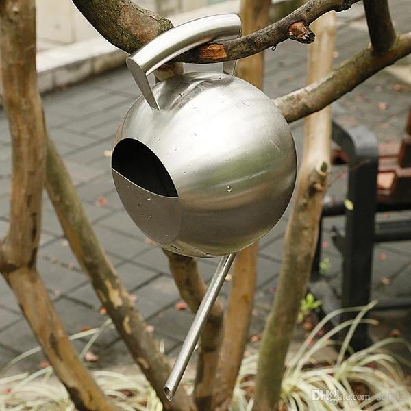 Bequemer robuster Bewässerungstopf-Edelstahl-kleine Antiabnutzung Garten-Wasser-Dosen mit Griff-langer Tülle wässert Ausrüstungen 45sh dd