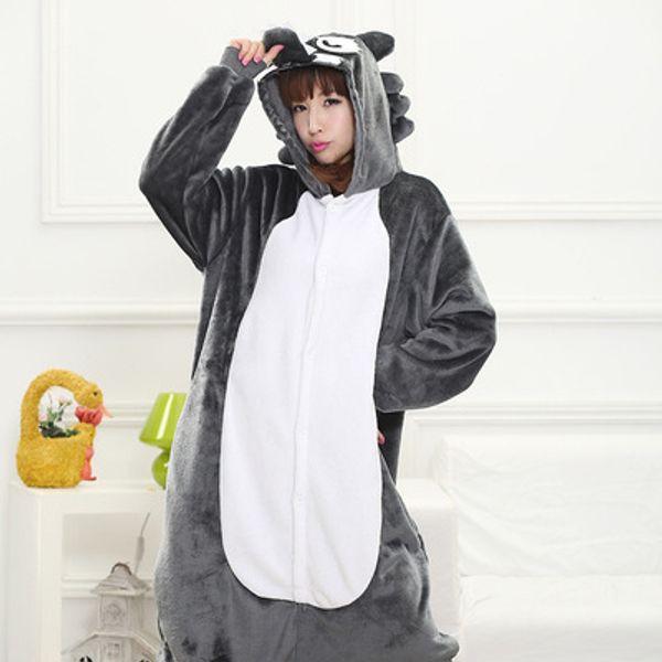 Pijamas de lobo de madera Animal Unisex Pijamas de adulto Pijamas de franela Ropa de invierno Onesies de animales de dibujos animados Monos de pijama