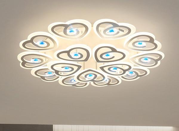 Nueva Llegada Moderno LED Luces de Techo Para la Sala de estar Dormitorio Estudio Habitación Deco Cristal Acrílico Lámparas Accesorios Lámparas de Araña Iluminación LLFA
