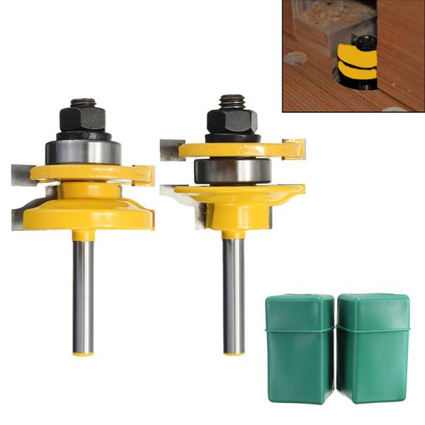 Più nuovo 2 Pz / set 1/4 di pollice Shank Rail E Stile Legno Router Bit Set Standard Ogee lavorazione del legno Drill Bit Cutter Power Tool Kit