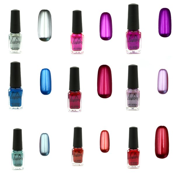 Upgrade the new metal color stainless steel color mirror silver oily nail polish 6 ml Metallic Nail Polish Mirror Oil Gel