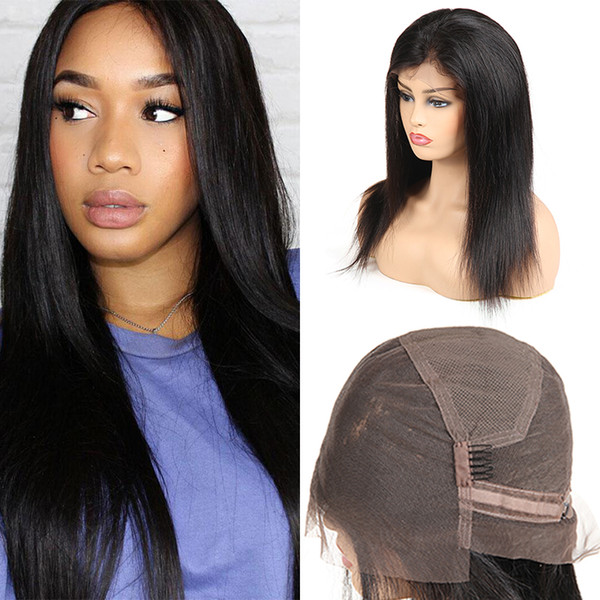 Unprocessed Brazilian Virgin Hair Straight 360 Full Lace Human Hair Wigs For Black Woman Remy Peruvian Indian Virgin Hair Free Shipping