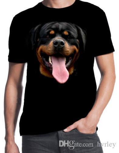 Rottweiler Face Dog Owner Puppy Rottie Happy Pet New Cute Mens Black T-ShirtMan T Shirt Round Collar Tees