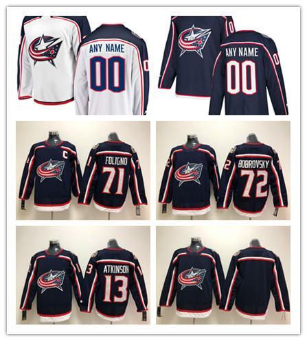 Custom Columbus Blue Jackets ANY NAME &NO JERSEYS Men Women Kids 71 Nick Foligno 13 Atkinson Authentic Hockey Jerseys Stitched Personalize