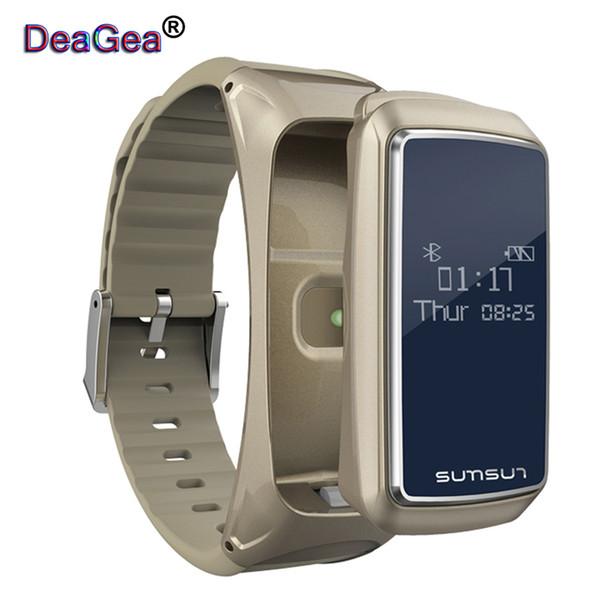 DeaGea B7 Bluetooth Smart Band Talkband Moniteur de fréquence cardiaque Sport Santé Smartband Montre Bracelet avec lecteur de musique Bracelet