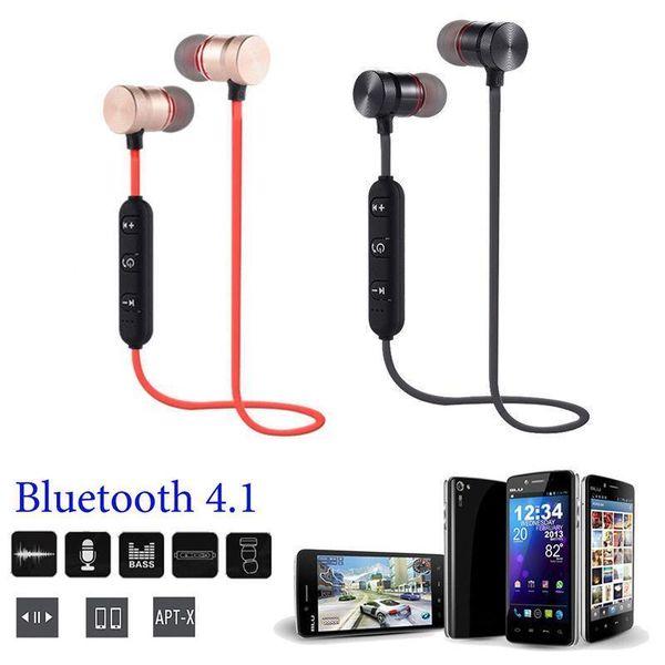 Wireless Bluetooth Magnet In ear Metal Earphone Headset Headphone For Mobliephone