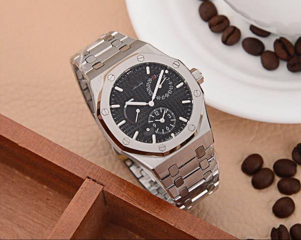 China todos los trabajos automático AAA acero inoxidable GRANDE plata 45 mm caso mecánicos marca nuevos hombres reloj de lujo Relojes de moda de los hombres