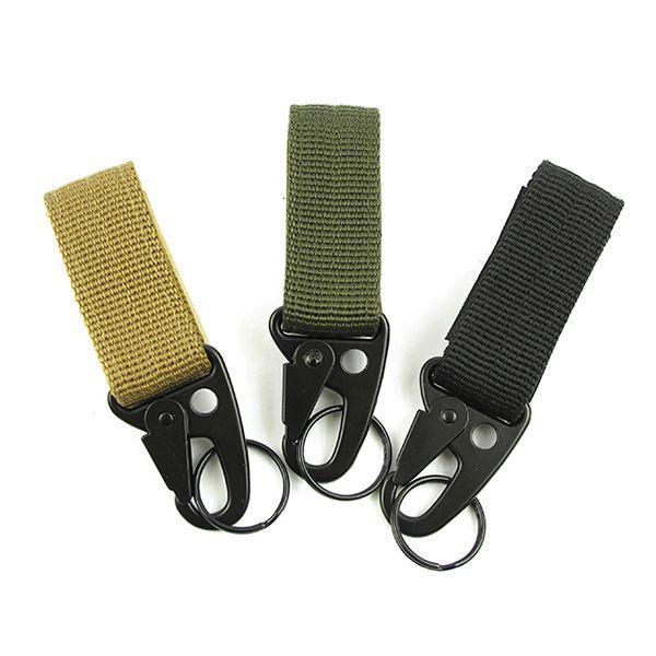 Outdoor Tactical Equipment Nylon Webbing Key ChainHang Buckle Oleo Hook Belt Carabiner Backpack Hook