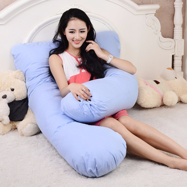 100% Cotton U Shape Full Body Pillow Pregnancy Maternity Sleep Pillows Sleeping Knee Back Hip Joint Sciatica  Cushion
