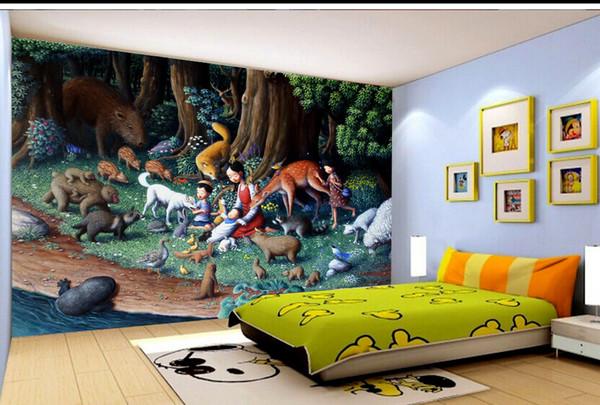 Satın Al özel Perakende Fantasy Orman Boyama çocuk Odası Arkaplan