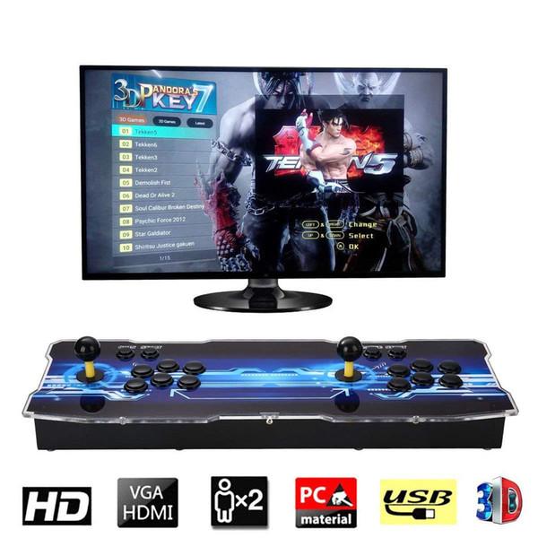 2019 2199 3d hd game pandora 7 3d 1280 1080p 32gb arcade video game con ole box arcade machine double arcade joy tick with peaker yx2199
