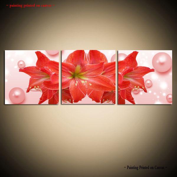 Encadrée / Sans Cadre Grand Décoratif Toile Peinture Mur Art Photo Moderne Abstrait Fleur Orchidée lily Moderne Dinning Room Home Decor