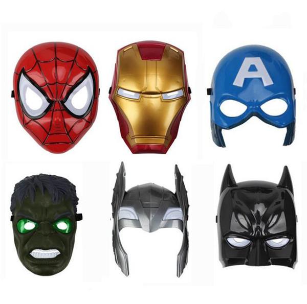 Compre Máscaras Luminosas Das Crianças Performing Homem Dos Desenhos Animados Homem De Ferro Homem Aranha Máscara Role Playing Toy Vingadores Partido