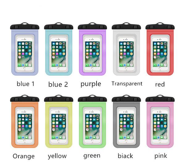 Universal mergulho natação à prova d 'água case para iphone x 8 7 6 plus capa bolsa bolsa casos para telefone coque à prova de água phone case