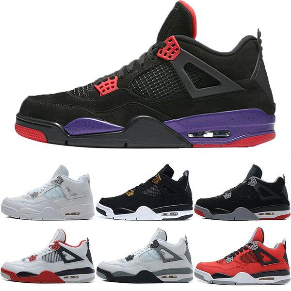 Designer Herren 4 4s Basketball Schuhe Raptors Oreo Royalty Bred Fire Rot Toro Bravo White Cement Sportschuhe Sneakers Größe 8-13 Sale Online