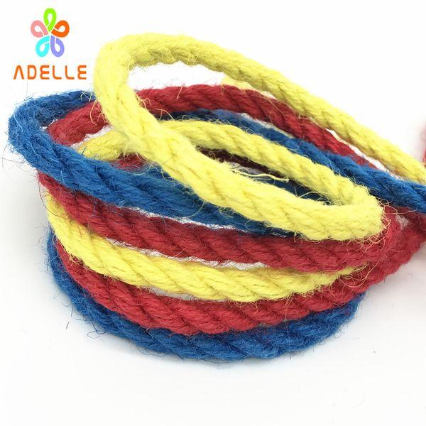 Corde de ficelle de jute de couleur 4 / 6mm solide triple brin tordu corde de bondage shibari kinbaku sex toys bricolage ceinture livraison gratuite 10 yard