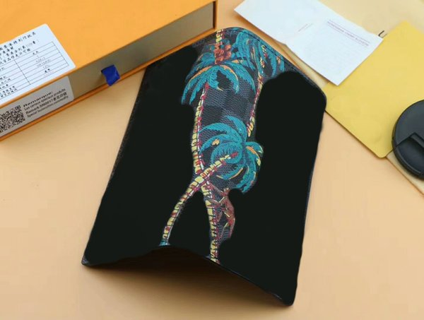 Famous designer PASSPORT COVER card holder Brazza men/women card holder Coconut tree purse N63509 id wallet bifold With Box CX#328 Bags