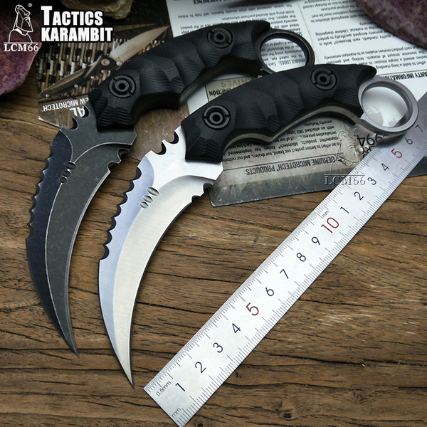 LCM66 Tactics karambit scorpion claw knife outdoor camping jungle survival battle Fixed blade hunting knives self defense tool D2 steel blad
