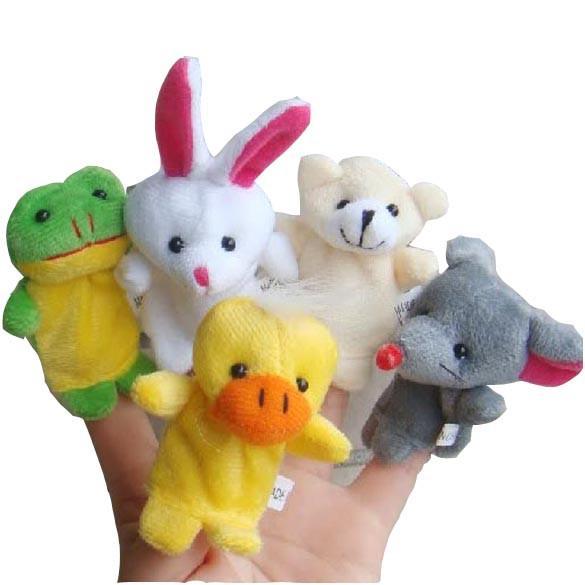 10pcs/set Cartoon Animal Finger Puppet Baby Plush Toys for Children Favor Gift Family Dolls Kids Finger Toy
