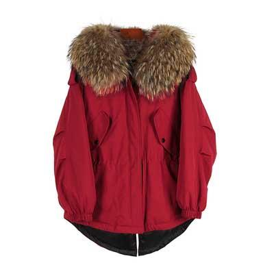 New Fashion winter Women's down jacket oversize Dovetail 90% white duck down coat large real raccoon fur Hooded Parka