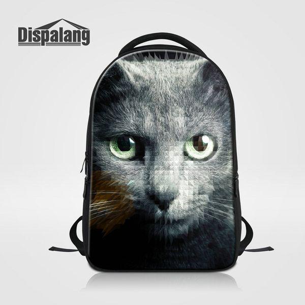 Cat School Bags For Women Larger Women's Shoulder Bags Animal Prints Laptop Backpack For High School Children Bagpacks Travel Knapsack Bolsa