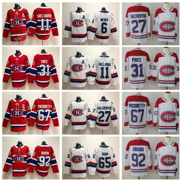 pretty nice 07a3b 9e9f8 2019 100th Classic 2018 Montreal Canadiens 67 Max Pacioretty Jersey Ice  Hockey 31 Carey Price 6 Shea Weber 65 Andrew Shaw 11 Brendan Gallagher From  ...