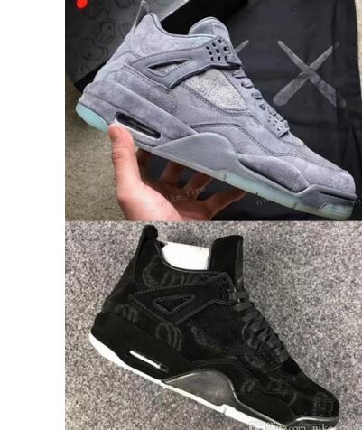 Barato x cool brilho cinza nos sapatos de basquete escuro dos homens 4 4s sapato preto shooter de edição limitada 4s tênis sapatos de basquete da cesta