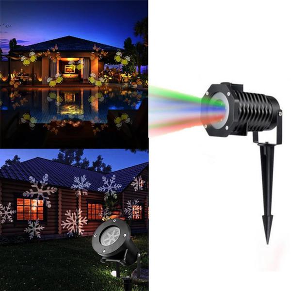 2019 Eu Us Uk Au Plug 12 Pattern Color Changing Projection Lamp Lawn Lamp Film Lights Outdoor Bar Waterproof Led Christmas Lights From Lightlight