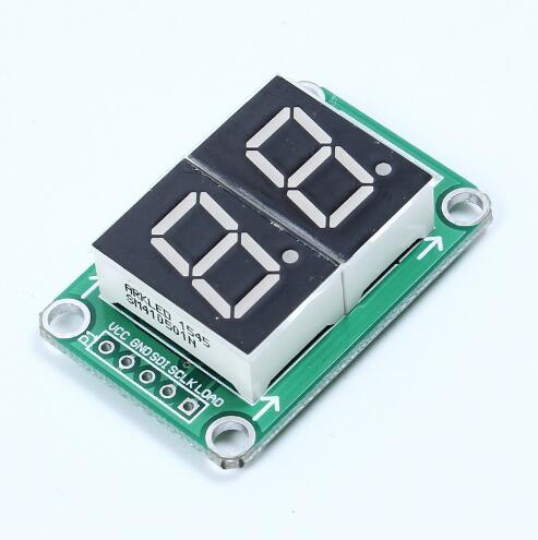Free shipping!1pc 74HC595 Static Driving 2 Segment Digital Display Module Seamless Can Series 0.5-inch 2-bright Red