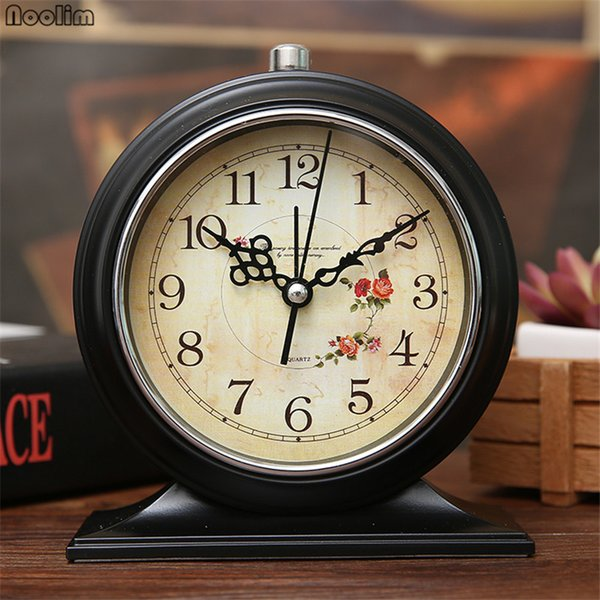 2019 NOOLIM European Retro Silent Small Alarm Clock Bedroom Creative Night  Light Alarm Table Simple Clock Tabletop Decoration From Tim2012, $16.18 |  ...