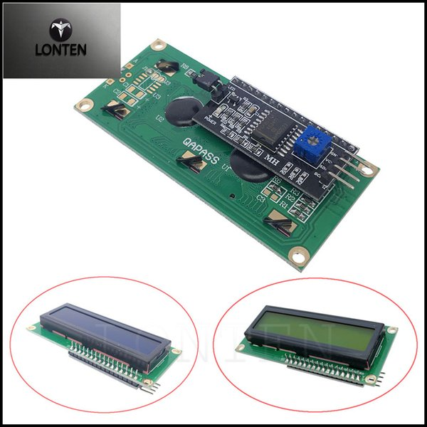 LCD1602+I2C LCD 1602 Module Blue/Yelow Green Screen IIC/I2C For Arduino  LCD1602 Adapter Plate Electronic Stores Electronics Clearance Sale From