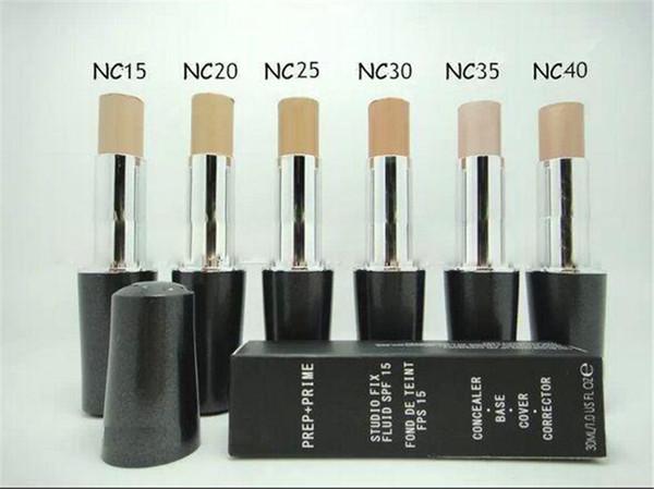 Cara de maquillaje de alta calidad PREP + PRIME Studio Fix fluido Spf 15 corrector Fundación 30 ml 6 colores envío rápido