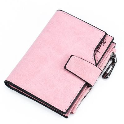New women's wallet women's short retro oil wax leather wallet Korean version of the wallet short vertical section
