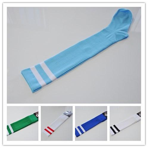2018 World Cup children Football Socks Over Knee Sport Long Socks For Kids Multicolor Striped Students Stockings With Paperboard free ship