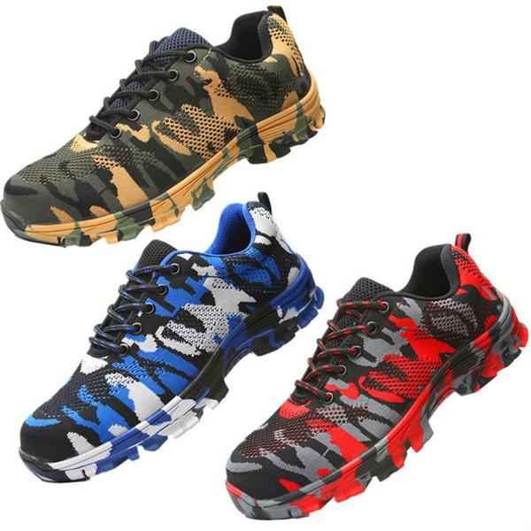 Zapatos de seguridad con cabezal de acero para proteger los zapatos del aplastamiento y la perforación botas de trabajo botas para hombres seguridad en el trabajo