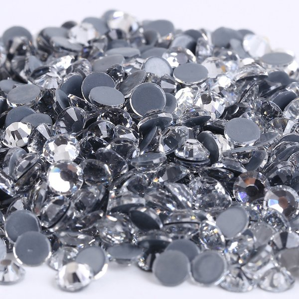 AAAAA Top Quality Clear Hot Fix Rhinestone Super Bright Glass Strass Hotfix Iron On Crystal Rhinestones for Wedding Decoration