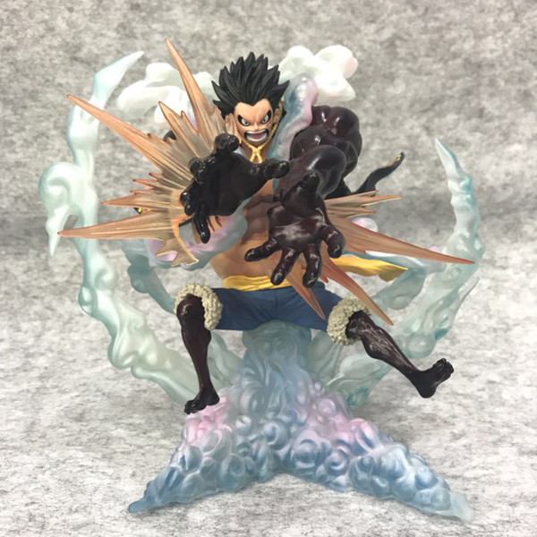 One Piece Figure Super Guild Wars Four-speed Luffy Lion Rocket Zero Anime Action Figure Office Model Doll Luffy Decoration