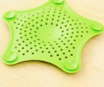 Kitchen Bathroom Sea Star Sucker Filter Sink Drain Stopper Anti-clogged Floor Sewer Outfall Hair Filter Colanders Strainer