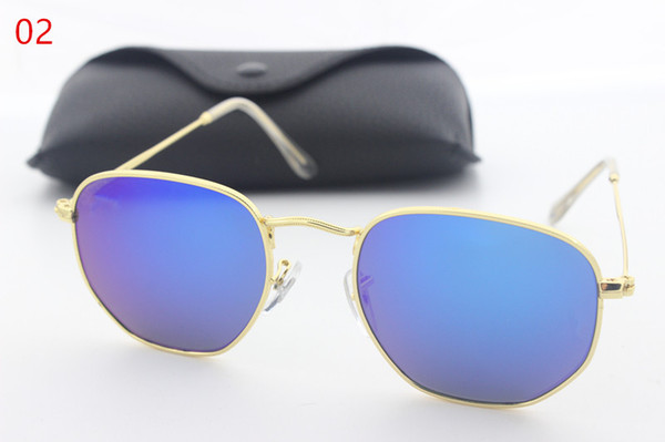 New high quality aluminum frame glass lens men and women fashion retro sunglasses brand designer Vintage Sport glasses