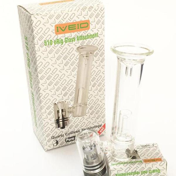 510 ERig Glass Attachment Quartz Coilless Technologh Electric Dabber Wax Atomizer Large Vaporizer Clearomizer High Quality Hot Sale