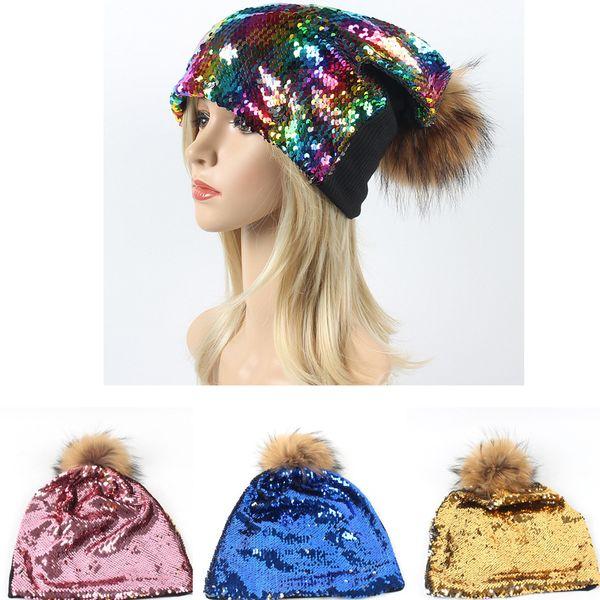 Frauen Pailletten Hüte Frauen Pailletten Mützen Hut Unisex Party Dance Magical Reversible Outdoor Hüte Frühling Herbst Weihnachten Hut 11 Farbe