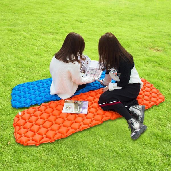 Lit gonflable léger de matelas d'air de matelas de couchage de lit Matelas d'air extérieur de tapis de camping portatif LJJM97 de lit
