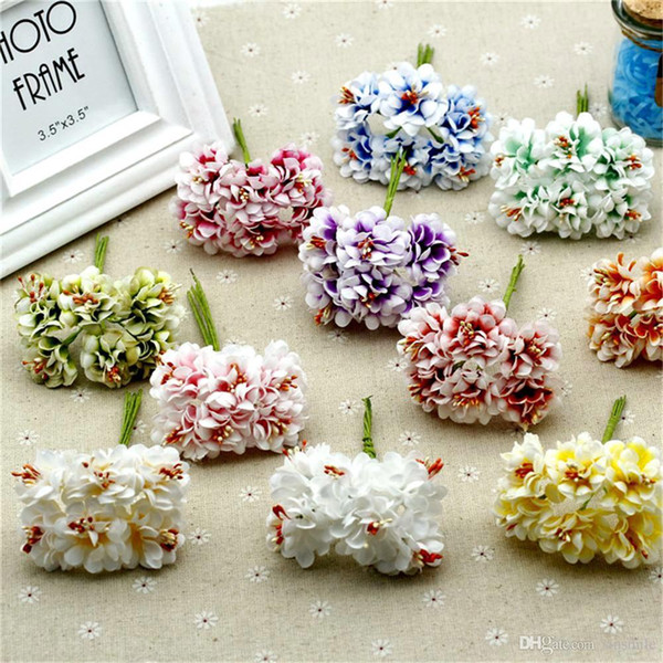 339612f0e2b2b 2019 Wholesale Gradient Silk Stamen Handmade Artificial Decoration Garland  Gift DIY Scrapbooking Craft Fake Flower From Funyer, $17.85 | DHgate.Com
