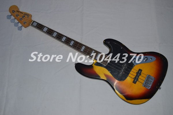 EMS free shipping Imitation of the old age paragraph 4 String bass Vintage Sunburst electric bass Guitar Best-selling