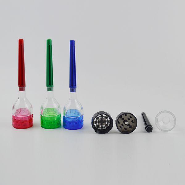 IL CONO ARTISTA Rolling Machine Cono Rolling Paper Maker Strumento filtro Dispositivo Plastic Grinder Roller staccabile 4 parti Grinders Dab Tool