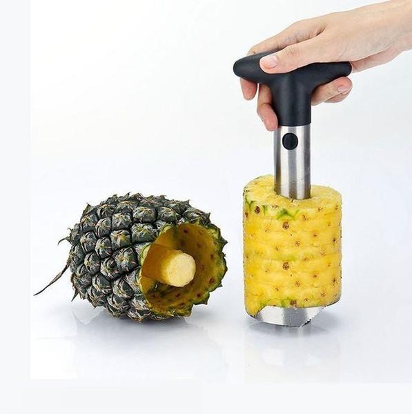 Paslanmaz Çelik Ananas Soyucu Kesici Dilimleme Tart Soyma Çekirdek Araçları Meyve Sebze Bıçağı Gadget Mutfak Spiralizer WN225