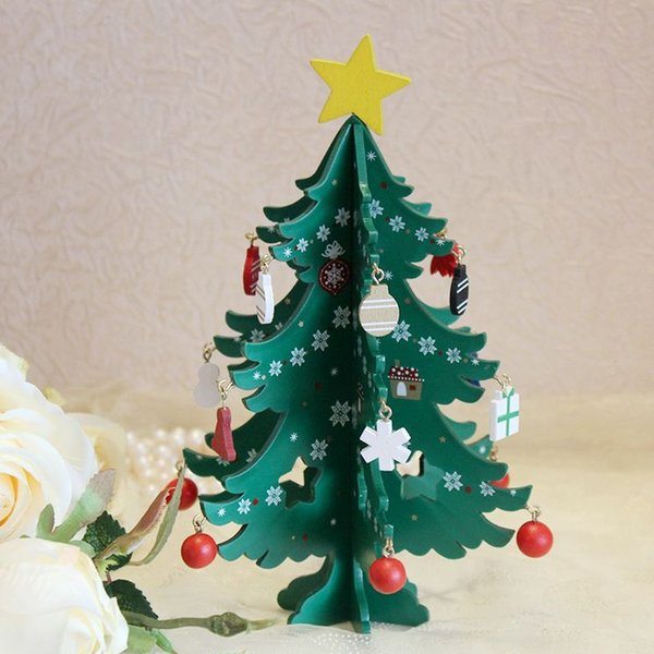 3d Christmas Tree.Cah040 Wood Made Exquisite 3d Christmas Greeting Cards Decorative Diy Folding Mini Christmas Tree Vintage Cards Send Card Send Cards From Cacare