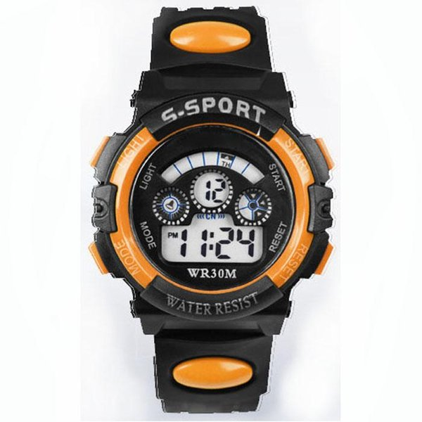 Beste Qualitäts-wasserdichte Kind-Jungen-Digital-LED-Quarz-Warnungs-Datums-Sport-Handgelenk-Mann-Frauen-Uhr-vollkommenes Geschenk Dec30 H0