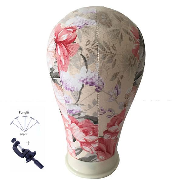 Cork Canvas Block Salon Pelucas profesionales que hacen la flor Mannequin Model Manikin Head Moda ajustable de metal Tripod Stand Holde